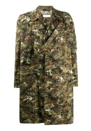 Cappotto monopetto con stampa camouflage