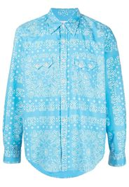 Re-Worked Camicia con stampa paisley - Blu