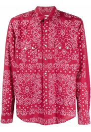 Re-Worked Camicia con stampa paisley - Rosso