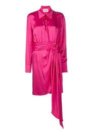 tie-waist silk shirt dress