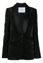 velvet striped blazer