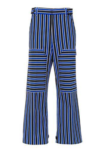 Pantaloni crop a righe