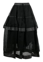double-layered midi skirt