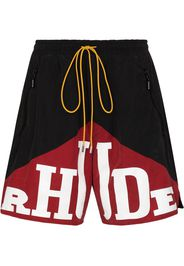 Rhude RHUDE EXCL YACHTING LOGO PRNT SHRTS RED - Nero