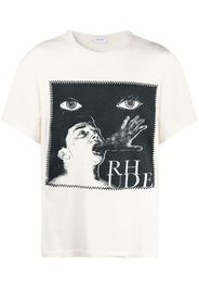 Rhude graphic-print cotton T-shirt - Bianco