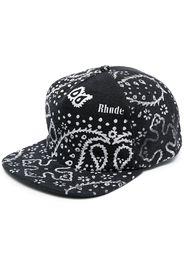 Rhude bandana print baseball cap - Nero