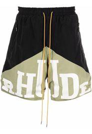 Rhude Shorts sportivi con stampa - Nero