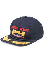 Rhude Wild West snapback cap - Blu