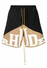 Rhude logo-print shorts - Nero