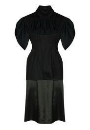 handwoven organic drape midi dress