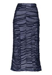 ruched-detailing midi skirt