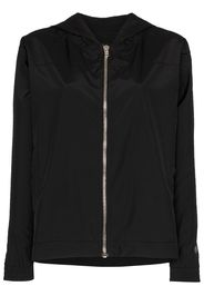 zip-up hooded windbreaker