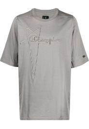 Rick Owens X Champion T-shirt con ricamo - Grigio
