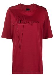 Rick Owens X Champion embroidered-logo oversized T-shirt - Rosso