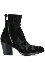 70mm zipped ankle boots