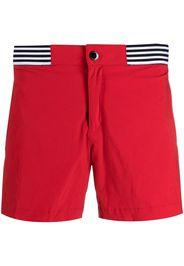 Ron Dorff Costume da bagno con dettaglio a righe - Rosso