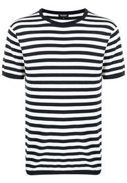 Ron Dorff T-shirt in maglia a righe - Blu