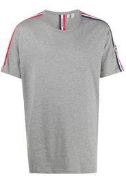 short sleeve logo stripe T-shirt