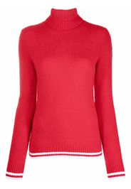 Rossignol Tricolor Roll-Neck Knit Sweater - 301 SPORTS RED