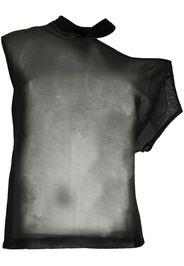 asymmetric mesh T-shirt
