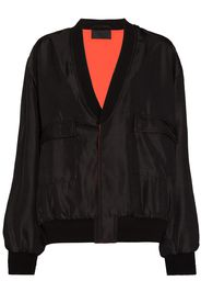 RtA V-neck reversible bomber jacket - Nero