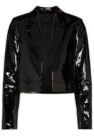 high-shine cropped jacket