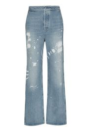 RtA Manon bleached high-waisted jeans - Blu