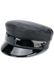 baker boy leather hat