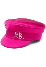 Ruslan Baginskiy crystal-logo baker boy hat - Rosa