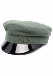 Ruslan Baginskiy logo-embroidered baker-boy cap - Verde
