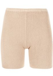 SABLYN ribbed knit cycling shorts - Marrone