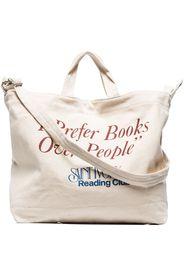 Saint Ivory NYC Borsa tote Reading Club con stampa - Toni neutri