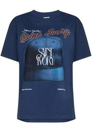 Saint Ivory NYC Big Leagues cotton T-shirt - Blu