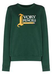 Saint Ivory NYC Ivory Pencils crew-neck sweatshirt - Verde