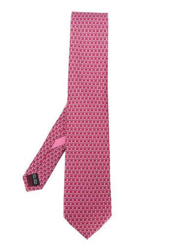 Cravatta con stampa Gancini