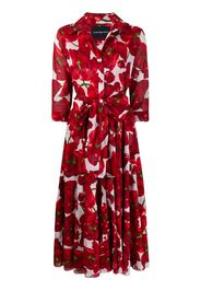 Aster tulip-print shirt dress
