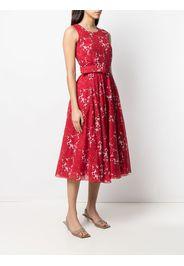 Samantha Sung Vestito midi a fiori - Rosso