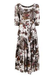 Samantha Sung Anna palm-tree print dress - Toni neutri