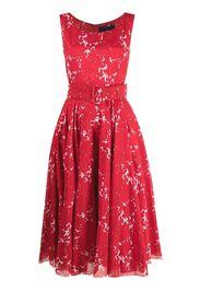 Samantha Sung Vestito Aster a fiori - Rosso
