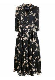 Samantha Sung flared shirt dress - Nero