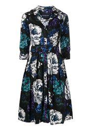 Samantha Sung Audrey abstract-print shirtdress - Blu