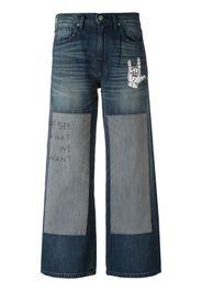 Jeans con motivo patchwork