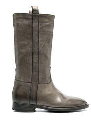 Sartore flat leather boots - Grigio