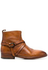 Sartore grained leather ankle boots - Marrone