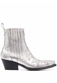 Sartore Flamme leather ankle boots - Grigio
