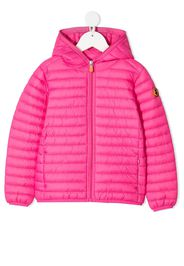 Save The Duck Kids hooded padded jacket - Rosa