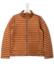 Save The Duck Kids TEEN logo-plaque puffer jacket - Arancione