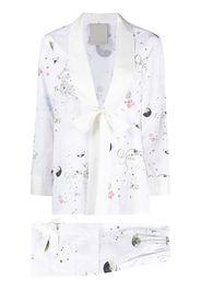 Seen Users Leo horoscope print trouser suit - Bianco