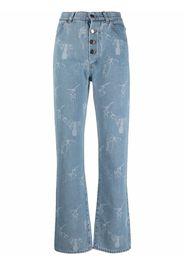 Seen Users Jeans svasati con stampa - Blu