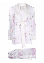 Seen Users Aries-motif two-piece suit - Bianco